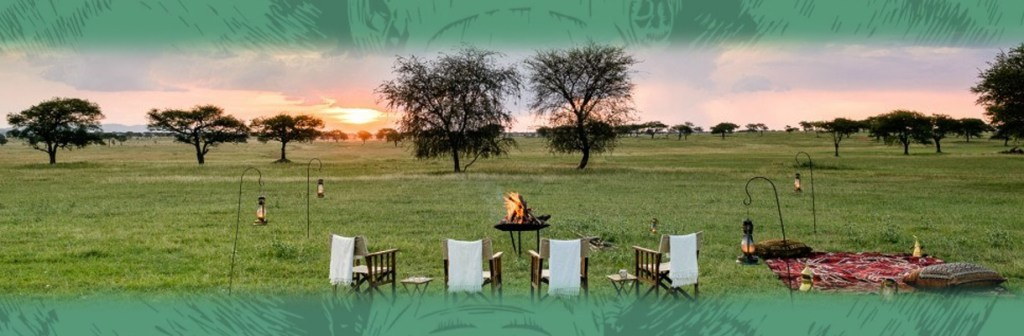 Singita Private Game Reserve Fire and Sunset