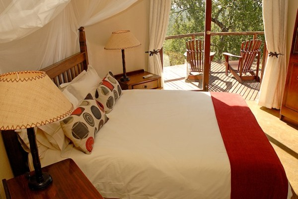 Manyatta Rock Camp Standard Chalet Bed