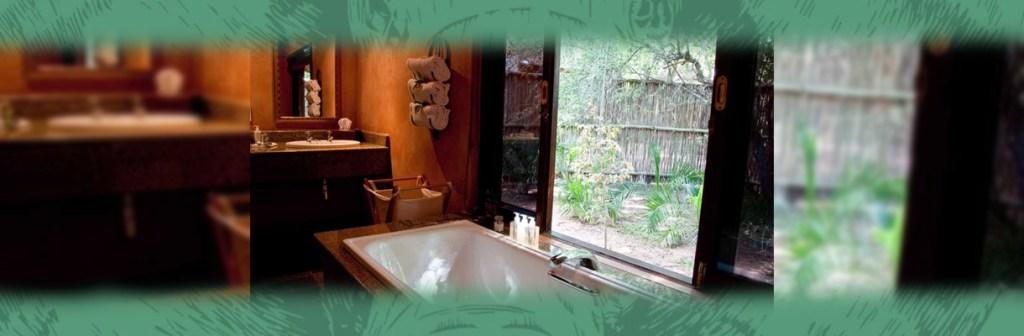 Monwana Game Lodge Bathroom and View