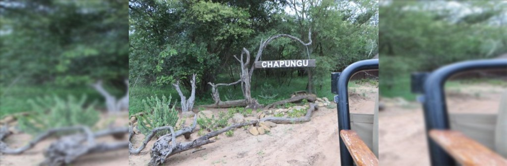 Chapungu Luxury Tented Camp Welcome Sign