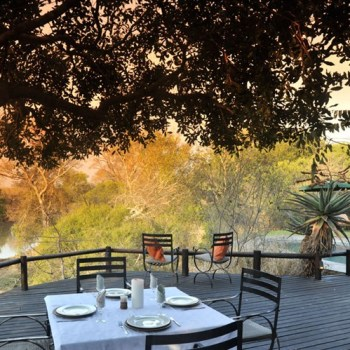 Waterbuck Game Lodge Deck View