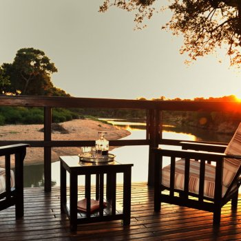 Hamiltons Tented Camp Deck and Sunset