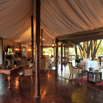Hamiltons Tented Camp Guest Area