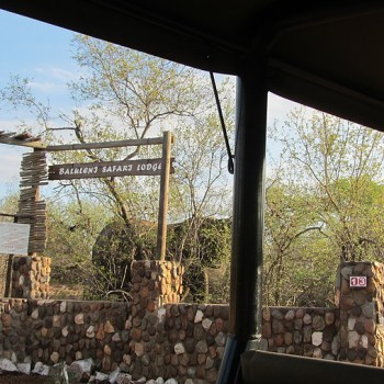 Baluleni Safari Lodge Drive Entrance