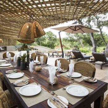 Amani Safari Camp Dinner Table