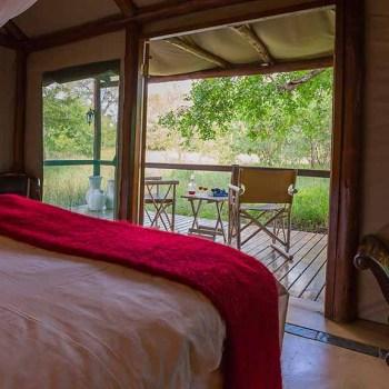 Chapungu Luxury Tented Camp Tent View