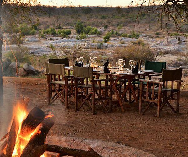 Mjejane River Lodge Bush Fire Dining