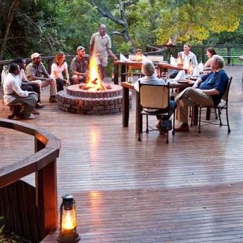 Monwana Game Lodge Boma Fireplace