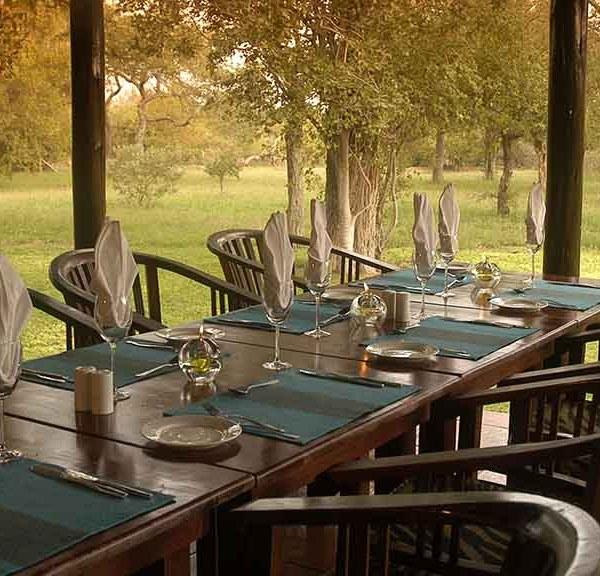 N'kaya Game Lodge Table Setting