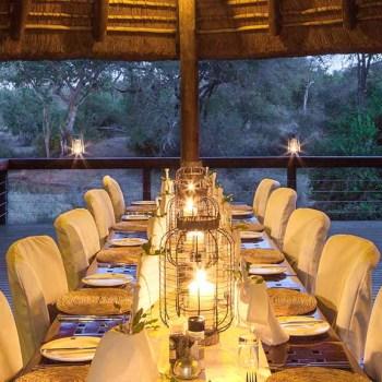 Serondella Game Lodge Deck Dinner