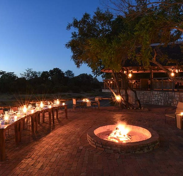 Shumbalala Game Lodge Fire Side Dinner