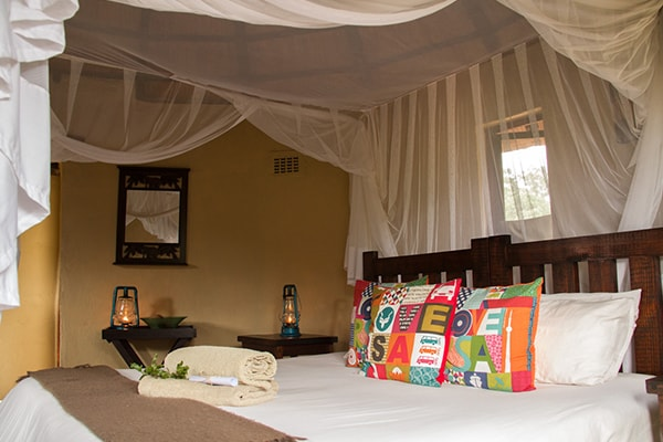 Africa on Foot Family Chalet Bedroom
