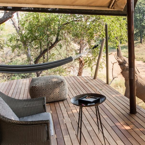 Garonga Safari Camp Private Deck