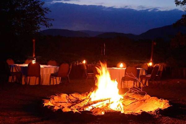 Pestana Kruger Lodge Evening Fire