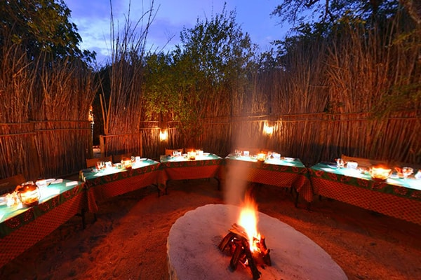 Sausage Tree Safari Camp Boma Evening Fire