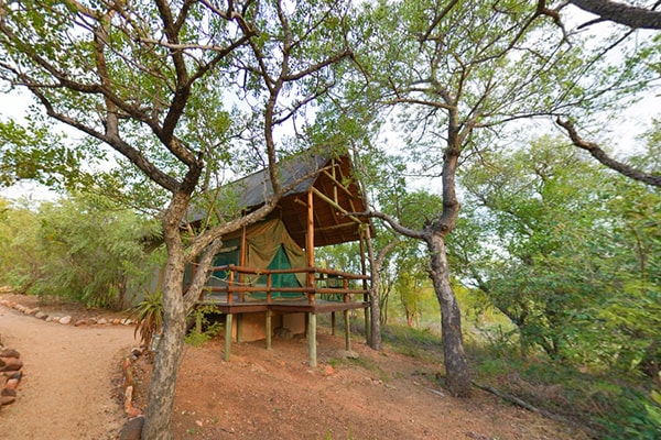 Sausage Tree Safari Camp Tent Exterior View