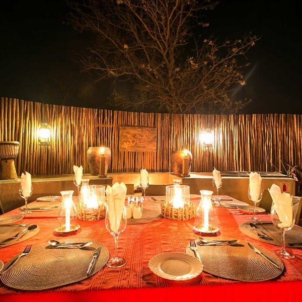 nDzuti Safari Camp Evening Dining