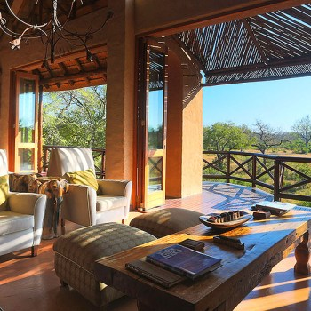Lukimbi Safari Lodge Guest Lounge and Deck