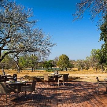 Makanyi Private Game Lodge View From Outdoor Dining Area