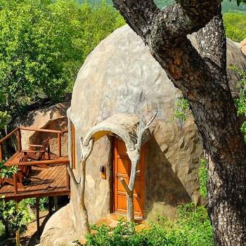 Manyatta Rock Camp Close Up Of Accommodation Exterior