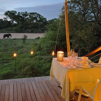 Ngala Tented Camp Deck Dining