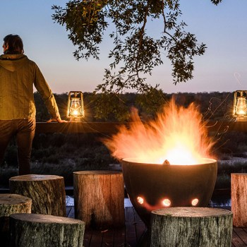 Singita Boulders Lodge Fireplace