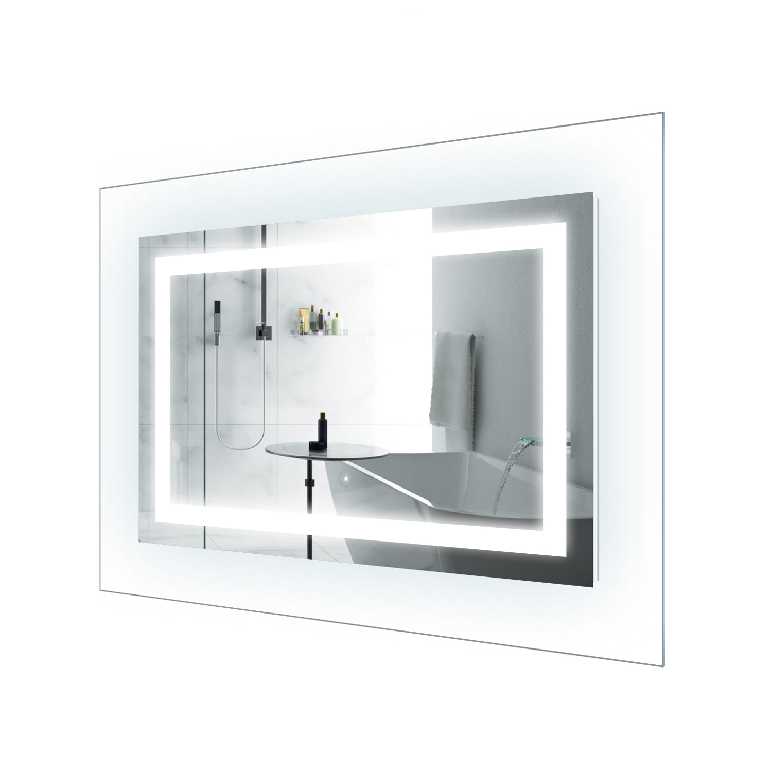 LED Lighted 42 Inch x 30 Inch Bathroom Mirror With Glass