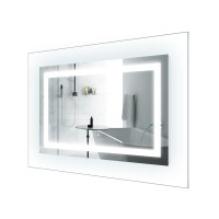 LED Lighted 42 Inch x 30 Inch Bathroom Mirror With Glass ...