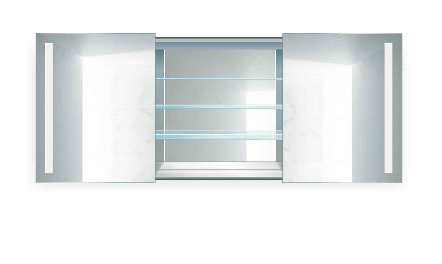 Rolls48 LED Medicine Cabinet 48 Inch X 30 Inch Lighted