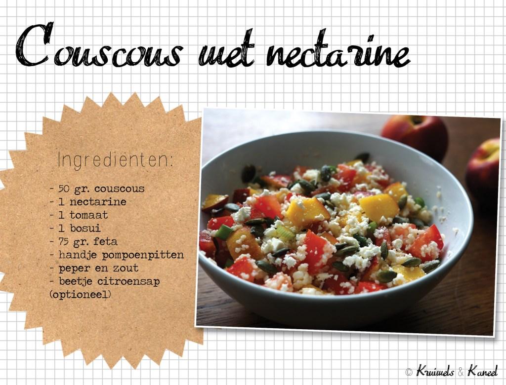 couscous nectarine