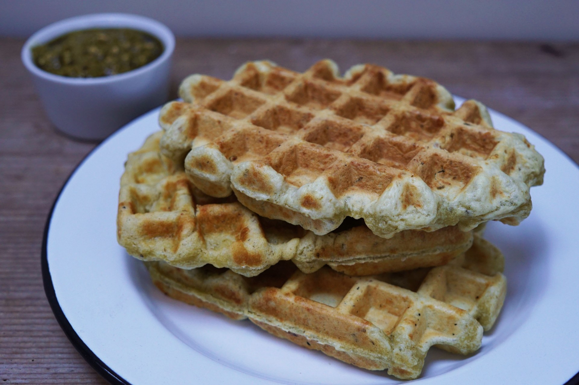 pesto wafels