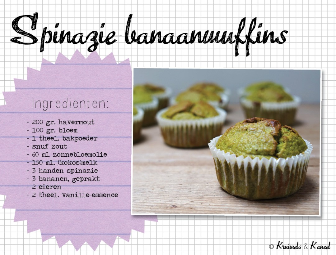spinazie banaanmuffins