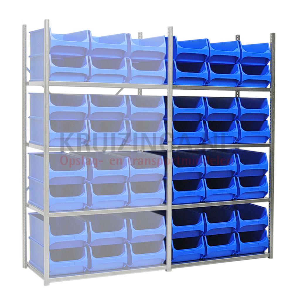bac a bec en plastique kit combine section incl 24 bacs de rangement