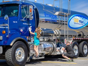 Getting the trucks ready for showtime is a family affair.