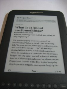 New York Times on Kindle