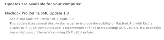 MacBook Pro Retina SMC Update 1.0