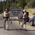 error 404 - road not found