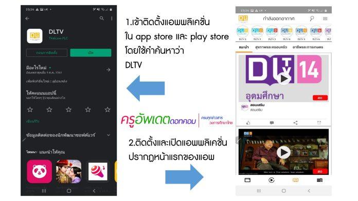 วิธีเข้าเรียนออนไลน์ ผ่านแอพ DLTV ส่งต่อให้นักเรียนและผู้ปกครอง 18 พค.-23 มิย. เริ่มเรียนรู้อยู่ที่บ้าน
