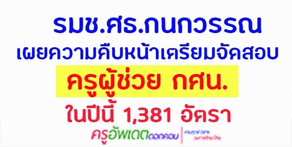 รมช.ศธ.กนกวรรณ เผยความคืบหน้าเตรียมจัดสอบครูผู้ช่วย กศน. ในปีนี้ 1,381 อัตรา