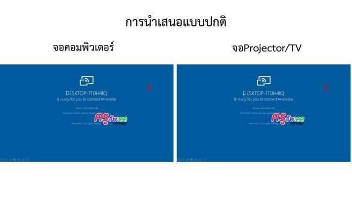 วิธีแก้ไขข้อมูล ในขณะกำลังนำเสนอผลงาน ด้วยโปรแกรม PowerPoint โดยไม่ต้อง Freeze จอProjector/TV