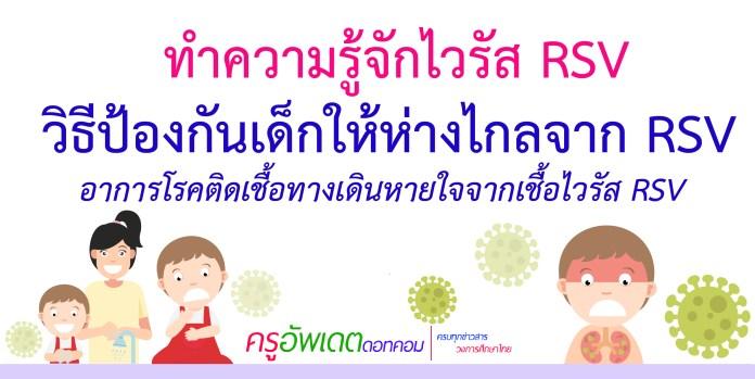 ทำความรู้จักโรค ติดเชื้อทางเดินหายใจ จากเชื้อไวรัส RSV  ป้องกันเด็กห่างไกลจาก ไวรัส RSV