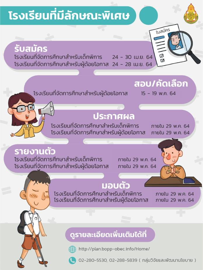 ปฏิทินการรับนักเรียน สังกัด สพฐ. ปีการศึกษา 2564 07