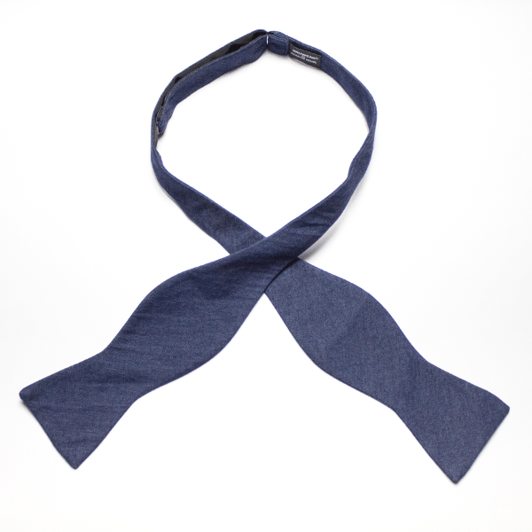 Kruwear-Denim-Self-tied-Bow-Tie