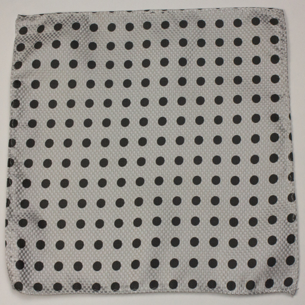 Gray black polk dot pocket square