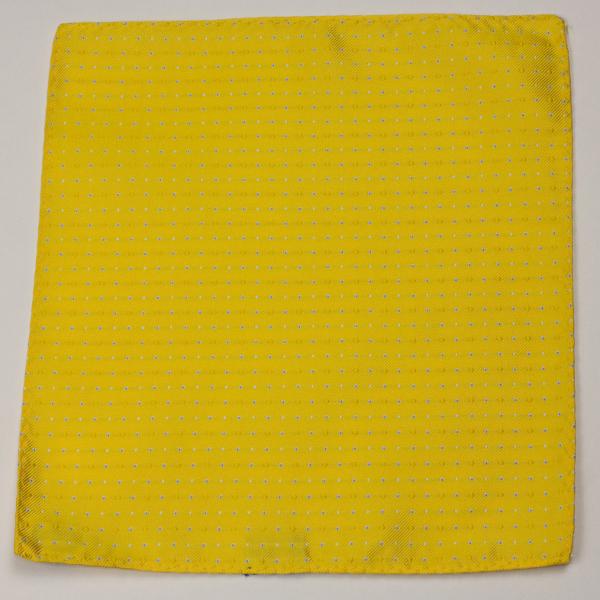 Kruwear 100% ilk yellow pocket square