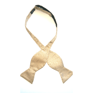 Light tan vine Kruwear self-tie bow tie