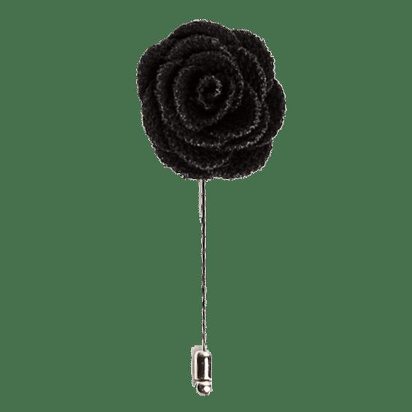 Stylish Beautiful Black Flower Lapel Pin: Kruwear - Chicago-based Bow