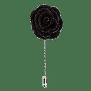 Black Rose Lapel Flower Pin