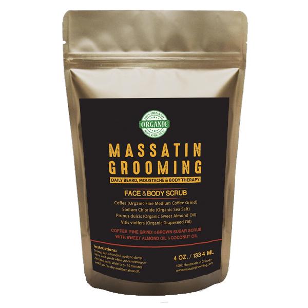 Organic coffee and brown sugar scrub