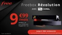Forfait Freebox Révolution à 9€99/mois